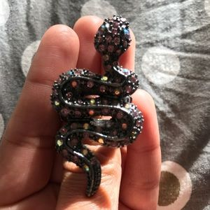 Betsy Johnson Snake with Pink Jewel Ring!